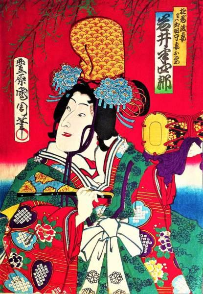 Celeb Wall Art - Painting - Top Quality Art - Iwai Hanshiro by Toyohara Kunichika