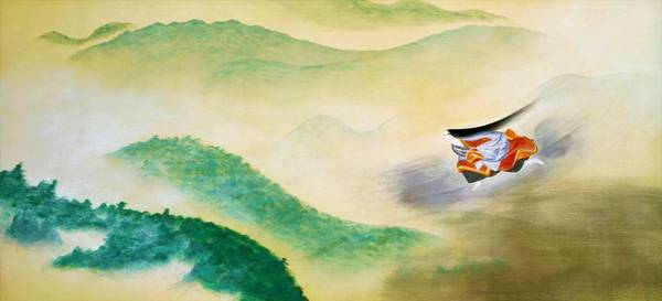 Mountain Range Painting - Top Quality Art - Kiyohime - Kiyohime by Kobayashi Kokei