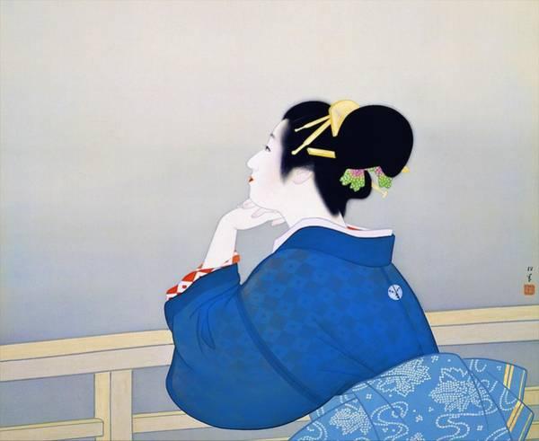 Geisha Painting - Top Quality Art - Machizuki by Uemura Shoen