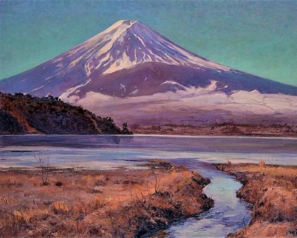 Wall Art - Painting - Top Quality Art - Mt, Fuji #3 by Wada Eisaku