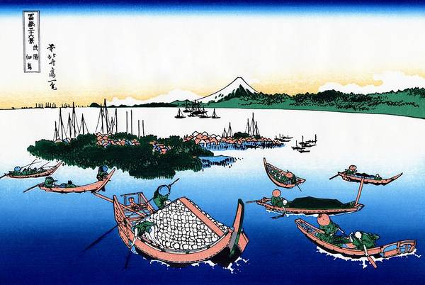 Cruiser Painting - Top Quality Art - Mt,fuji36view-buyo Tsukudashima by Katsushika Hokusai