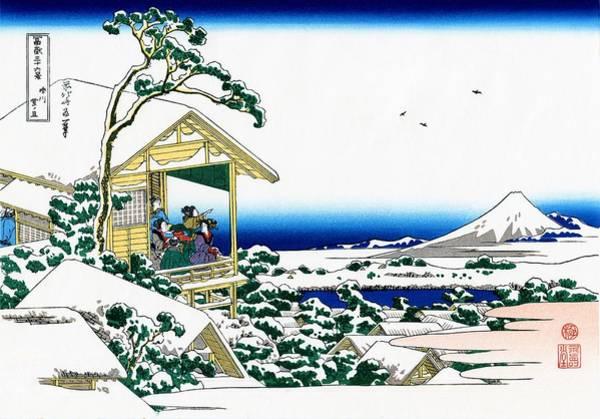 Hokusai Wall Art - Painting - Top Quality Art - Mt,fuji36view-koishikawa Yukinoashita by Katsushika Hokusai