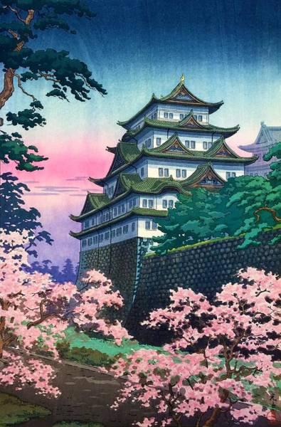 Wall Art - Painting - Top Quality Art - Nagoya Castle by Tsuchiya Koitsu