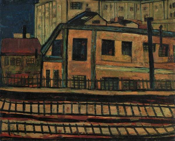 Trains Painting - Top Quality Art - Near Yurakucho Station by Shunsuke Matsumoto