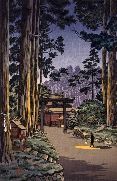 Japanese Shrine Painting - Top Quality Art - Nikko Futara Mountain by Tsuchiya Koitsu