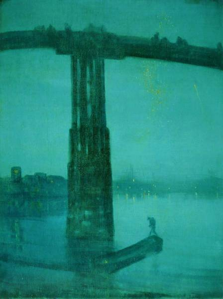 Cruiser Painting - Top Quality Art - Nocturne-blue And Gold-old Battersea Bridge by James McNeill Whistler