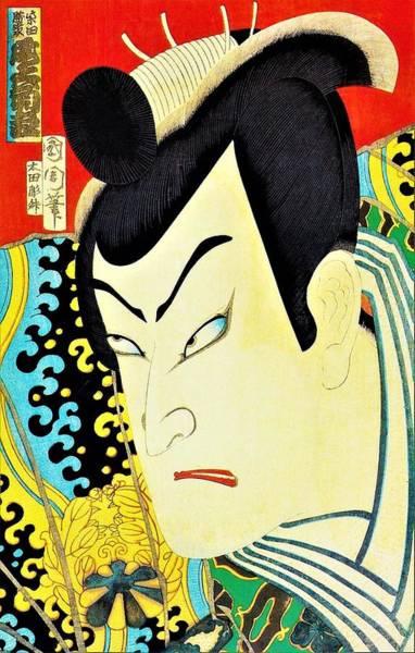 Celeb Wall Art - Painting - Top Quality Art - Onoe Kikugoro by Toyohara Kunichika