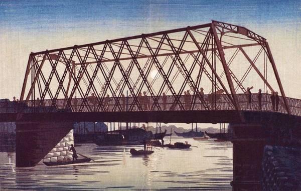 Wall Art - Painting - Top Quality Art - Reiganjima High Bridge by Inoue Yasuji