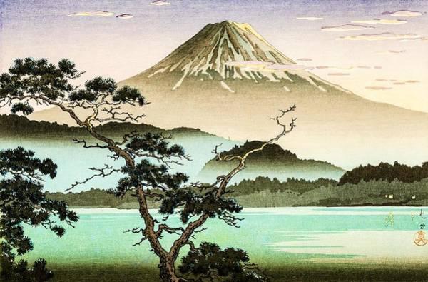 Wall Art - Painting - Top Quality Art - Sai Lake Sunset by Tsuchiya Koitsu