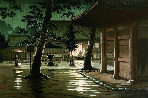 Japanese Shrine Painting - Top Quality Art - Sengakuji by Tsuchiya Koitsu