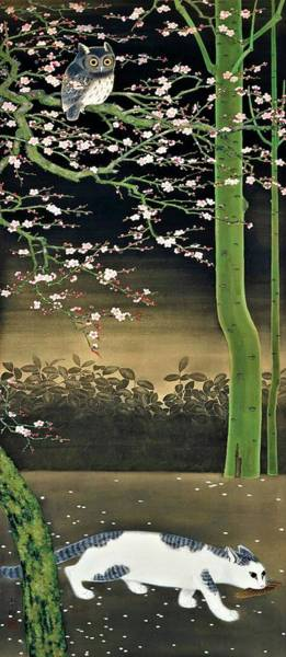 Wall Art - Painting - Top Quality Art - Spring Night by Omoda Seiju