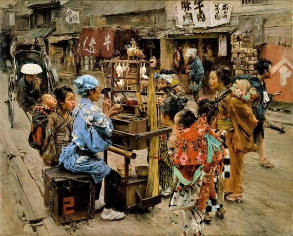 Merchant Painting - Top Quality Art - The Ameya  by Robert Frederick Blum