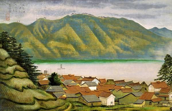 Wall Art - Painting - Top Quality Art - The Port Of Ezumi In Izumo by Omoda Seiju