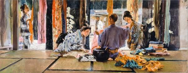 Merchant Painting - Top Quality Art - The Silk Merchant by Robert Frederick Blum