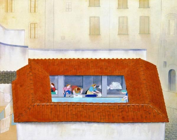 Wall Art - Painting - Top Quality Art - Wash House by Kobayashi Kokei
