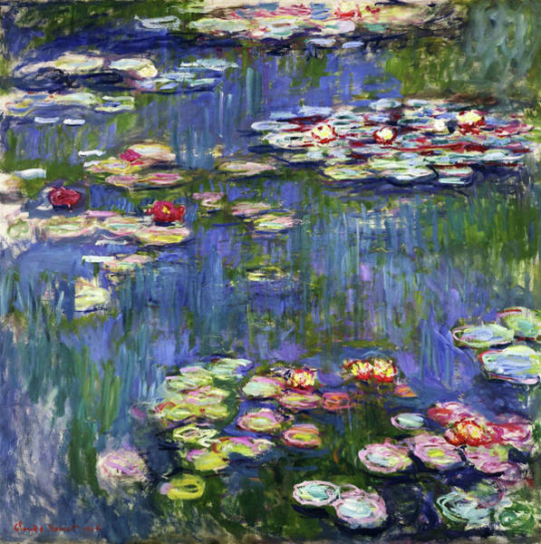 Wall Art - Painting - Water Lilies 1916 - Digital Remastered Edition by Claude Monet