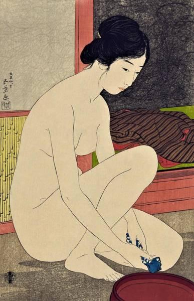 Beautiful Woman Photograph - Top Quality Art - Woman After Bath #1 by Hashiguchi Goyo