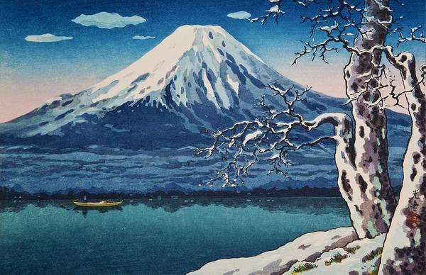 Wall Art - Painting - Top Quality Art - Yamanaka Lake by Tsuchiya Koitsu