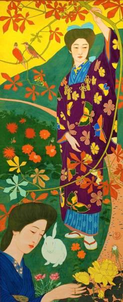 Wall Art - Painting - Top Quality Art - Yellow Rose by Hashiguchi Goyo