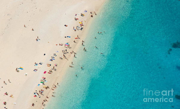Sunbathing Wall Art - Photograph - Top View Of Beautiful Dreamy Beach by Jag cz