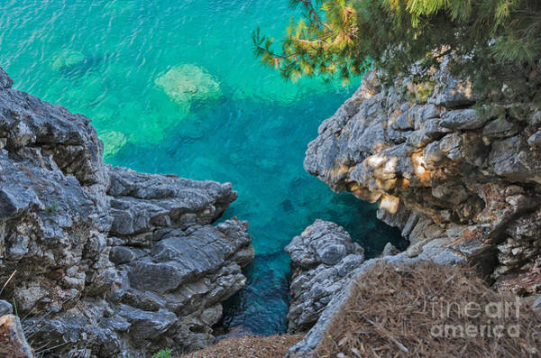 Waters Edge Wall Art - Photograph - Top View Of Cliffs, Bays, Clear Sea by Kato.72