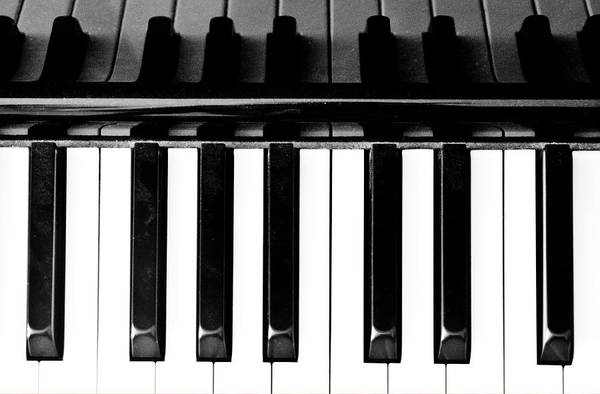 Piano Photograph - Top View Of Piano Keys by Bob Cornelis