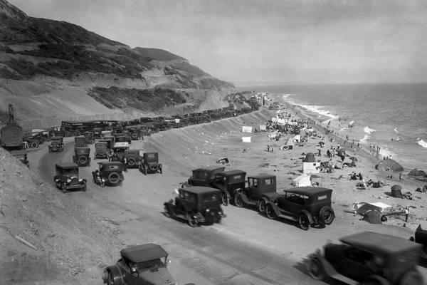 Photograph - Topanga State Beach 1920 by John Rodrigues