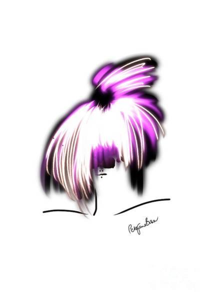 Hairdo Digital Art - Topknot For Top Model by Peta Brown