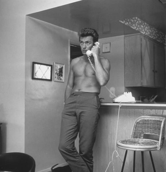 Clint Eastwood Photograph - Topless Clint by Hulton Archive