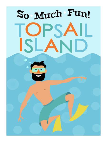 Wall Art - Digital Art - Topsail Island Fun Hipster Travel by Flo Karp