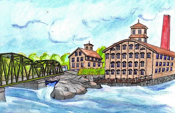 Wall Art - Drawing - Topsham New Hampshire by Paul Meinerth