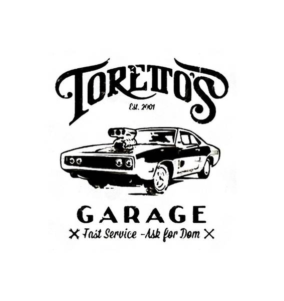 Dwayne Johnson Wall Art - Digital Art - Toretto's Garage by Zayeda Purnama