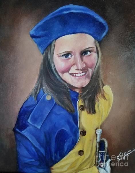 Wall Art - Painting - Tori With Trumpet by Sandra Valentini