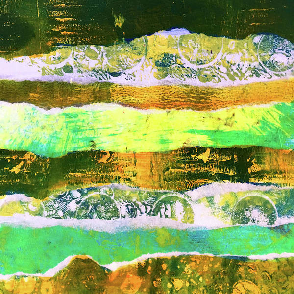 Wall Art - Mixed Media - Torn Landscape 2 -- Abstract  by Nancy Merkle