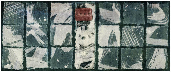 Wall Art - Mixed Media - Torn Squares Collage by Carol Leigh
