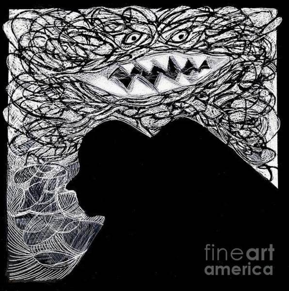 Drawing - Tornado by Cindy Suter