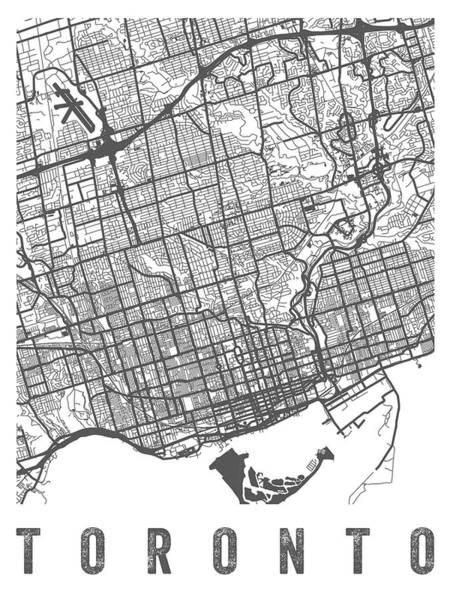 Wall Art - Digital Art - Toronto Canada Street Map - Cato01 by Aged Pixel