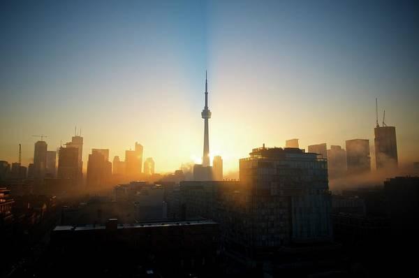 Cn Tower Wall Art - Photograph - Toronto City by Michael A Leckman