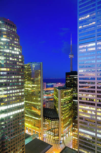 Cn Tower Wall Art - Photograph - Toronto, Downtown Financial District by Alan Copson