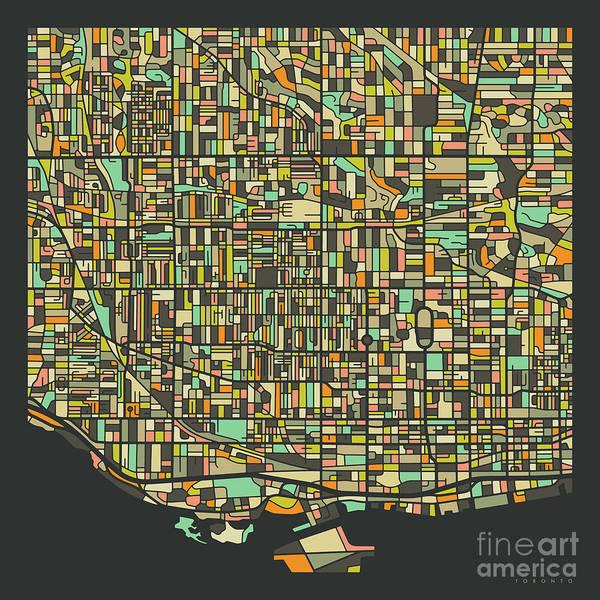 Toronto Wall Art - Digital Art - Toronto Map 2 by Jazzberry Blue