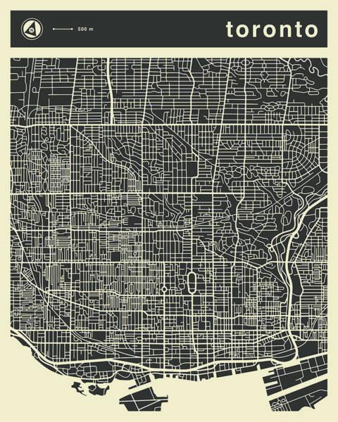 Toronto Wall Art - Digital Art - Toronto Map 3 by Jazzberry Blue