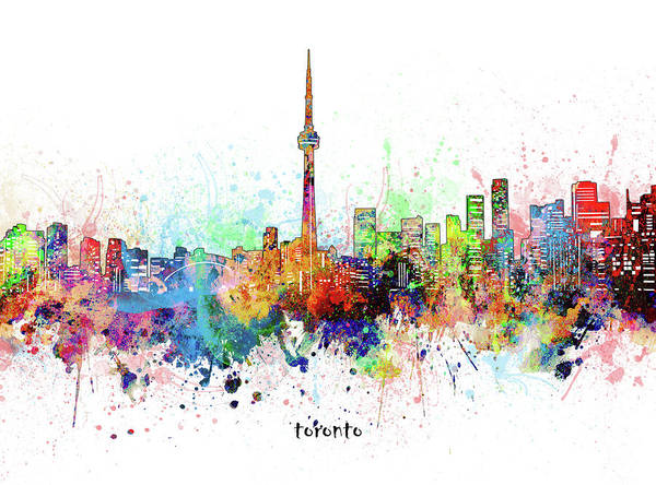 Wall Art - Digital Art - Toronto Skyline Artistic by Bekim M