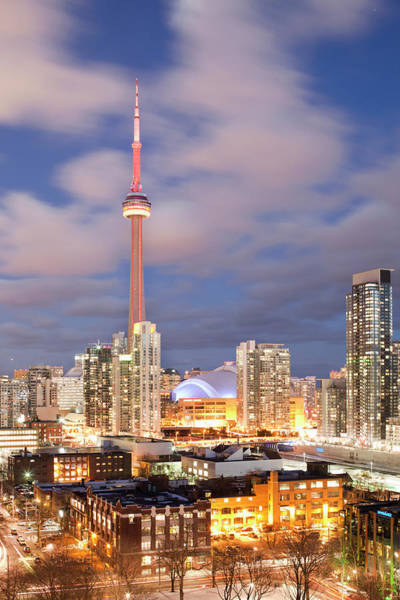 Cn Tower Wall Art - Photograph - Toronto Skyline At Night by Andrew Rowat
