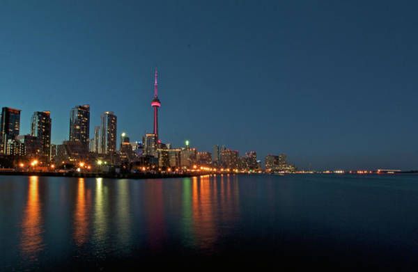 Canada Photograph - Toronto Skyline At Night by Photographed By Dan Cronin-toronto Canada