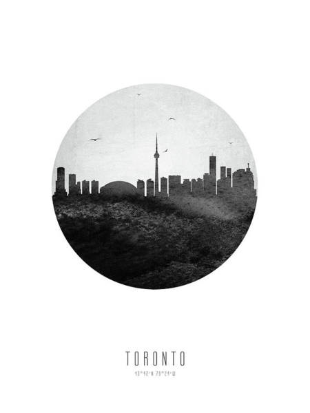 Wall Art - Digital Art - Toronto Skyline Caonto04 by Aged Pixel