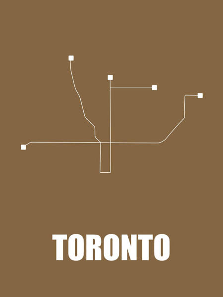 Wall Art - Digital Art - Toronto Subway Map 2 by Naxart Studio