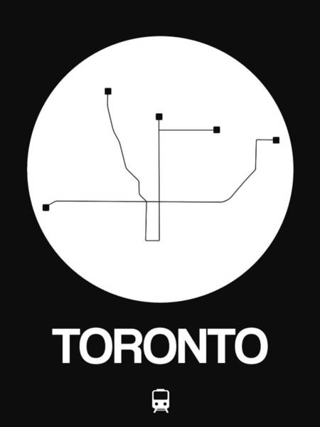 Wall Art - Digital Art - Toronto White Subway Map by Naxart Studio