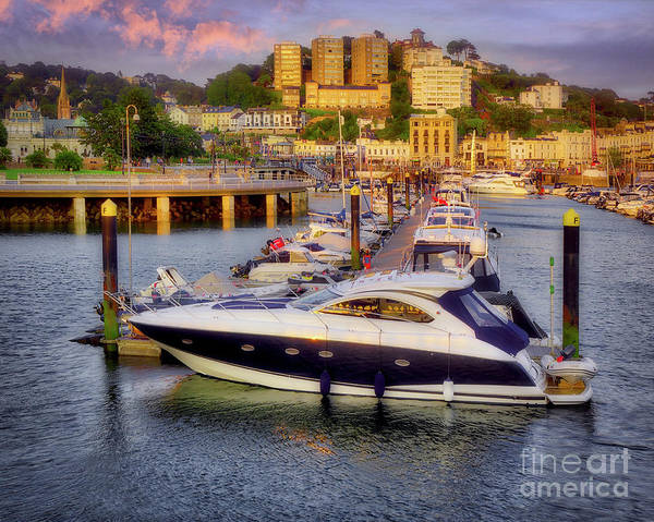 Photograph - Torquay Harbor Scene by Edmund Nagele