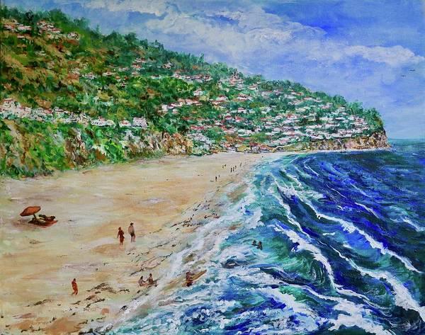 Painting - Torrance Beach, Palos Verdes Peninsula by Tom Roderick