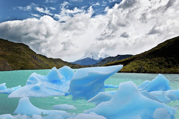 Ice Floe Photograph - Torres Del Paine National Park by Luis Davilla